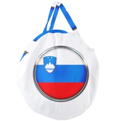 Slovenia Flag Mountains Country Giant Round Zipper Tote