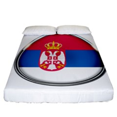 Serbia Flag Icon Europe National Fitted Sheet (california King Size)