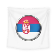 Serbia Flag Icon Europe National Square Tapestry (small) by Nexatart