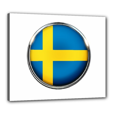 Sweden Flag Country Countries Canvas 24  X 20  by Nexatart