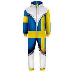 Sweden Flag Country Countries Hooded Jumpsuit (men)  by Nexatart