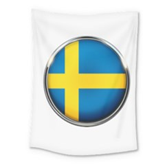 Sweden Flag Country Countries Medium Tapestry by Nexatart
