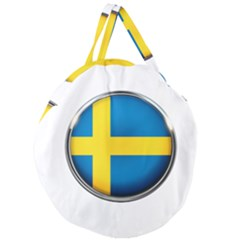 Sweden Flag Country Countries Giant Round Zipper Tote
