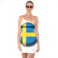 Sweden Flag Country Countries One Soulder Bodycon Dress