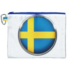 Sweden Flag Country Countries Canvas Cosmetic Bag (xxl)