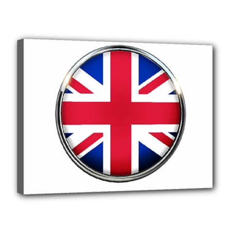 United Kingdom Country Nation Flag Canvas 16  X 12  by Nexatart