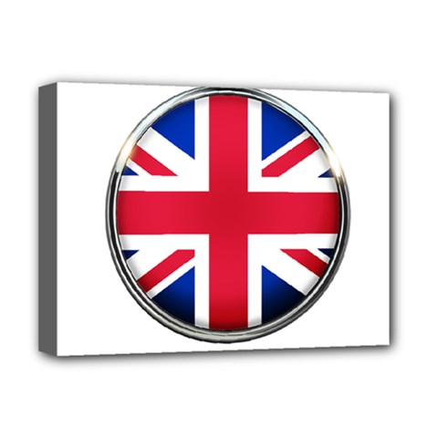 United Kingdom Country Nation Flag Deluxe Canvas 16  X 12   by Nexatart