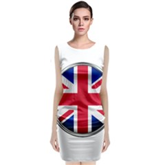 United Kingdom Country Nation Flag Classic Sleeveless Midi Dress by Nexatart
