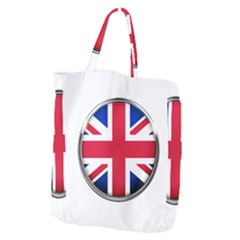 United Kingdom Country Nation Flag Giant Grocery Zipper Tote