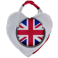 United Kingdom Country Nation Flag Giant Heart Shaped Tote