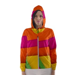 Background Abstract Hooded Wind Breaker (women)