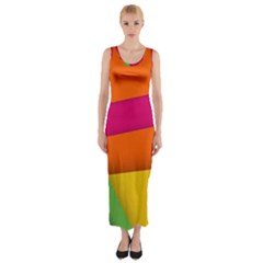 Background Abstract Fitted Maxi Dress