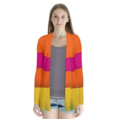 Background Abstract Drape Collar Cardigan