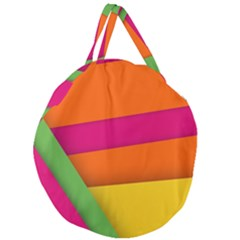 Background Abstract Giant Round Zipper Tote