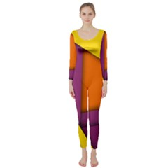 Background Abstract Long Sleeve Catsuit