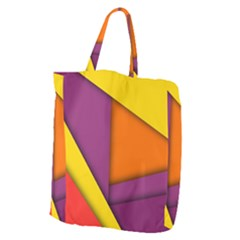 Background Abstract Giant Grocery Zipper Tote