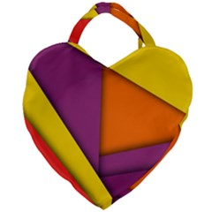 Background Abstract Giant Heart Shaped Tote
