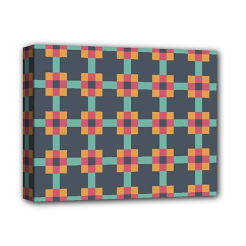 Squares Geometric Abstract Background Deluxe Canvas 14  X 11
