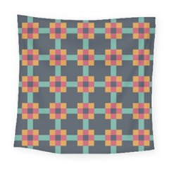 Squares Geometric Abstract Background Square Tapestry (large) by Nexatart