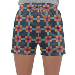 Squares Geometric Abstract Background Sleepwear Shorts