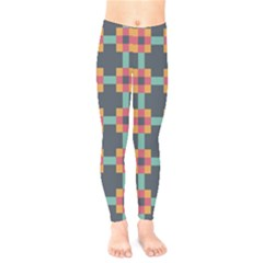 Squares Geometric Abstract Background Kids  Legging by Nexatart