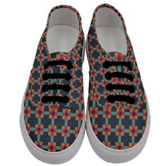 Squares Geometric Abstract Background Men s Classic Low Top Sneakers