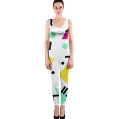 Art Background Abstract Unique One Piece Catsuit