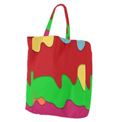 Liquid Forms Water Background Giant Grocery Zipper Tote