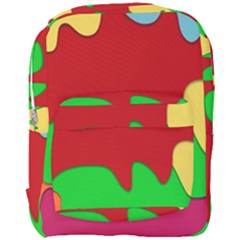 Liquid Forms Water Background Full Print Backpack