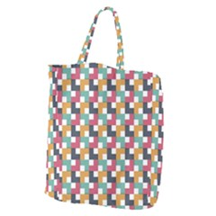 Background Abstract Geometric Giant Grocery Zipper Tote