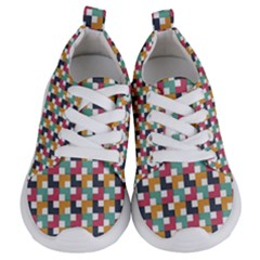 Background Abstract Geometric Kids  Lightweight Sports Shoes