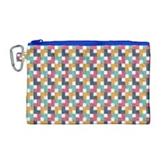 Background Abstract Geometric Canvas Cosmetic Bag (large)