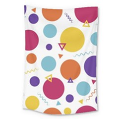 Background Polka Dot Large Tapestry by Nexatart