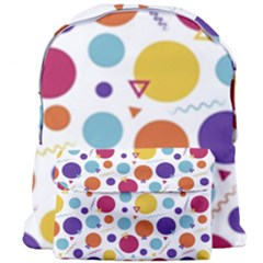 Background Polka Dot Giant Full Print Backpack by Nexatart