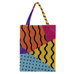 Background Abstract Memphis Classic Tote Bag