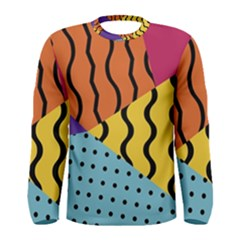 Background Abstract Memphis Men s Long Sleeve Tee