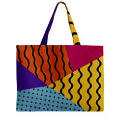 Background Abstract Memphis Zipper Mini Tote Bag
