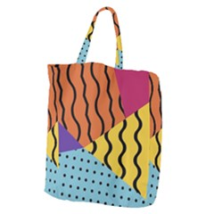 Background Abstract Memphis Giant Grocery Zipper Tote