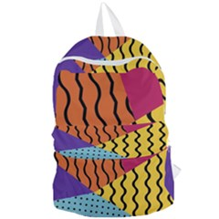 Background Abstract Memphis Foldable Lightweight Backpack