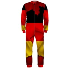 Germany Map Flag Country Red Flag Onepiece Jumpsuit (men)