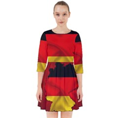 Germany Map Flag Country Red Flag Smock Dress