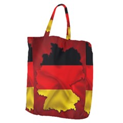 Germany Map Flag Country Red Flag Giant Grocery Zipper Tote