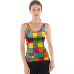 Squares Abstract Background Abstract Tank Top by Nexatart