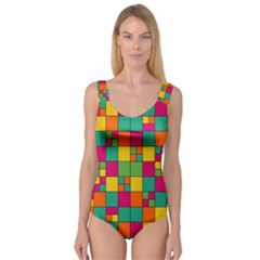 Squares Abstract Background Abstract Princess Tank Leotard