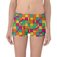 Squares Abstract Background Abstract Boyleg Bikini Bottoms