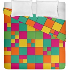 Squares Abstract Background Abstract Duvet Cover Double Side (king Size)