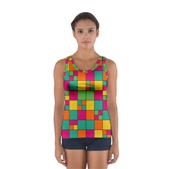 Squares Abstract Background Abstract Sport Tank Top