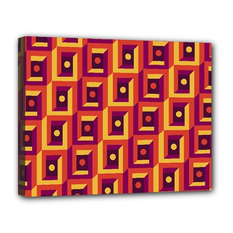 3 D Squares Abstract Background Canvas 14  X 11