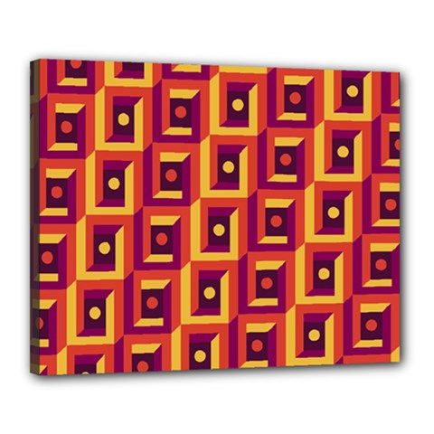 3 D Squares Abstract Background Canvas 20  X 16