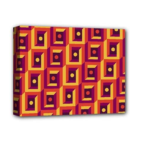 3 D Squares Abstract Background Deluxe Canvas 14  X 11